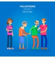 Volunteers design concept vector image