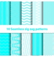 Cyan Seamless Chevron Patterns vector image