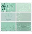 floral business card set vector image
