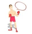 funny cartoon character boxer boxing champion vector image