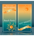 summer time beach party flyer yellow and blue vector image