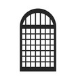 silhouette monochrome of window icon vector image