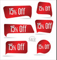 15 percent off red sticker collection