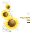 Abstract sunflower design vector