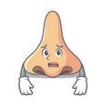 afraid nose mascot cartoon style vector image vector image