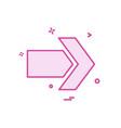 arrow icon design vector image vector image