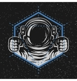 Astronaut with a geometric element vector image vector image