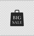 big sale bag icon on transparent background vector image