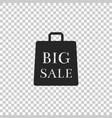big sale bag icon on transparent background vector image vector image