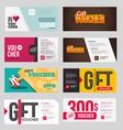 big voucher discount template set vector image vector image