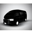 black car silhouette cargo van vector image