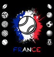 black sport balls france background vector image