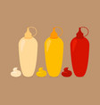 bottles with sauses vector image vector image