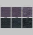 brick stone wall seamless texture vector image