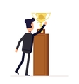 Businessman or manager reaches for the cup Man in vector image vector image