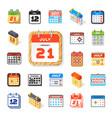 calendar web icon set vector image vector image