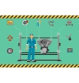 car mechanic repair service center concept vector image
