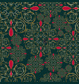 christmas mandala flower seamless pattern vector image