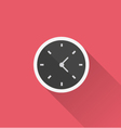 Clock icon in minimal style vector image