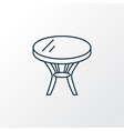 coffee table icon line symbol premium quality vector image vector image