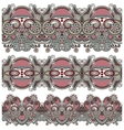 collection of seamless ornamental floral stripes vector image vector image
