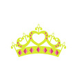 crown with rubies vector image