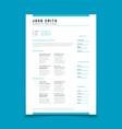 cv personal profile resume curriculum vitae vector image vector image