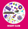 dancing party night club disco ball and limousine vector image vector image