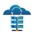 database server reload cloud computing vector image vector image