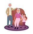 elderly couple with child vector image