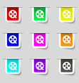 Film icon sign Set of multicolored modern labels vector image vector image