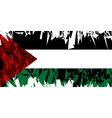 Flag of Palestine vector image vector image