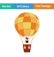 Flat design icon of hot air balloon vector image