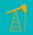 flat shading style icon gas production vector image