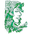 floral ornament woman vector image vector image