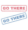go there textile stamps vector image vector image