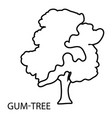gum tree icon outline style vector image
