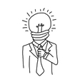 hand drawn doodles of businessman vector image