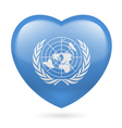 Heart icon of United Nations vector image