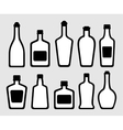 isolated alcohol bottles set vector image vector image