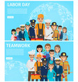 labor day and teamwork promotion vector image vector image