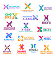 letter x corporate identity business icons vector image vector image