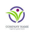 logo design beauty organic company logo vector image vector image