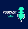 logo or icon podcast talk with light color graphic vector image vector image
