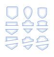 monogram geometric frames set vector image