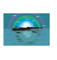 night island paradise background vector image