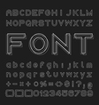 Overlap Font Alphabet and numbers Design vector image