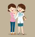 paediatrician and mom with baby vector image vector image