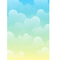 peaceful sky background vector image vector image