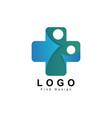 people logo health sign clinic hospital cross vector image